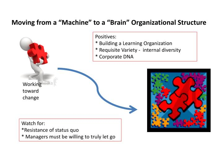 "Moving from a ""Machine"" to a ""Brain"" Organizational Structure"