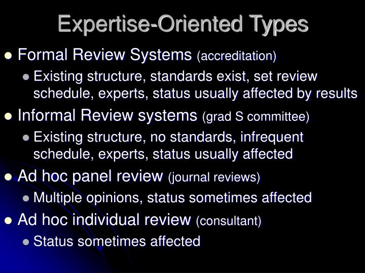 Expertise-Oriented Types