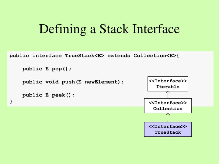 Defining a Stack Interface
