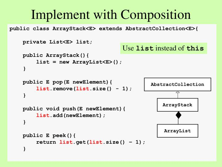 Implement with Composition