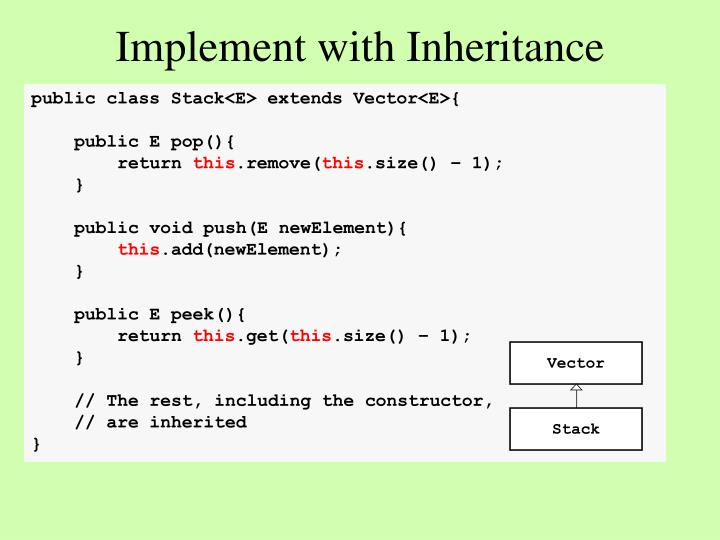 Implement with Inheritance