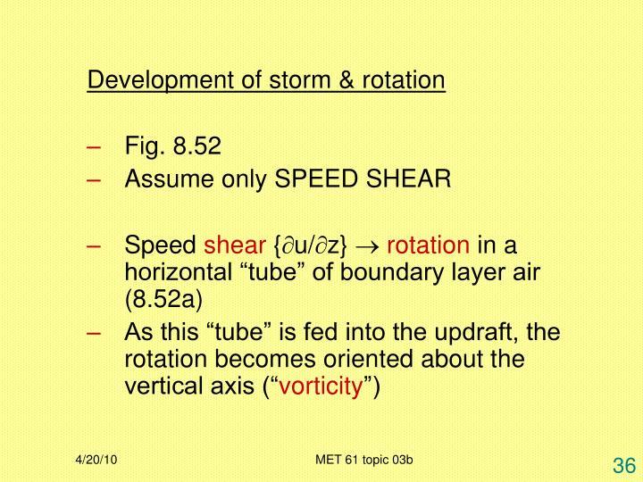 Development of storm & rotation