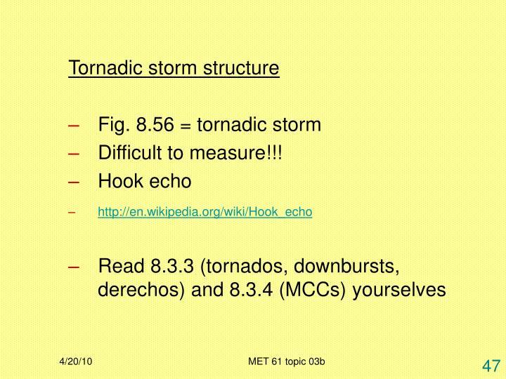 Tornadic storm structure