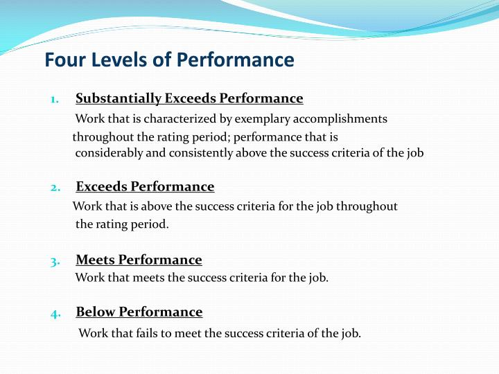 Four Levels of Performance