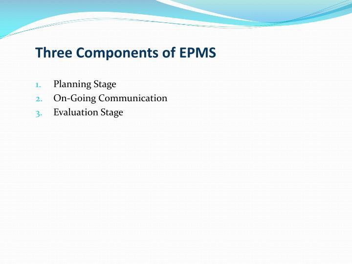 Three Components of EPMS