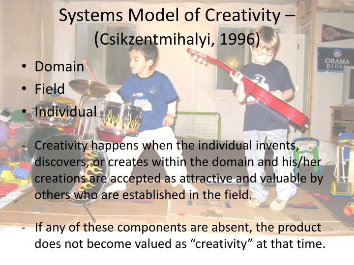 Systems Model of Creativity – (