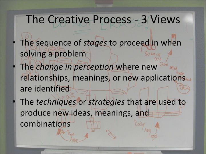 The Creative Process - 3 Views