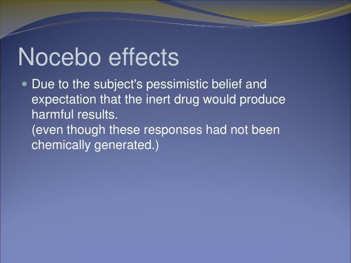 Nocebo effects
