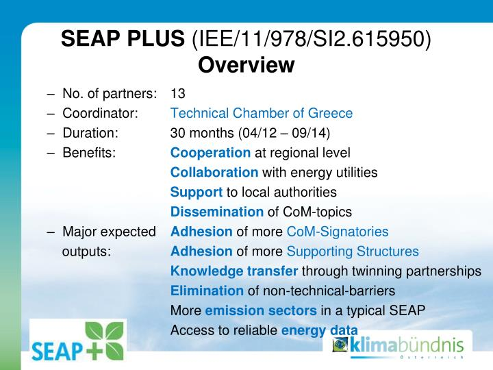 Seap plus iee 11 978 si2 615950 overview