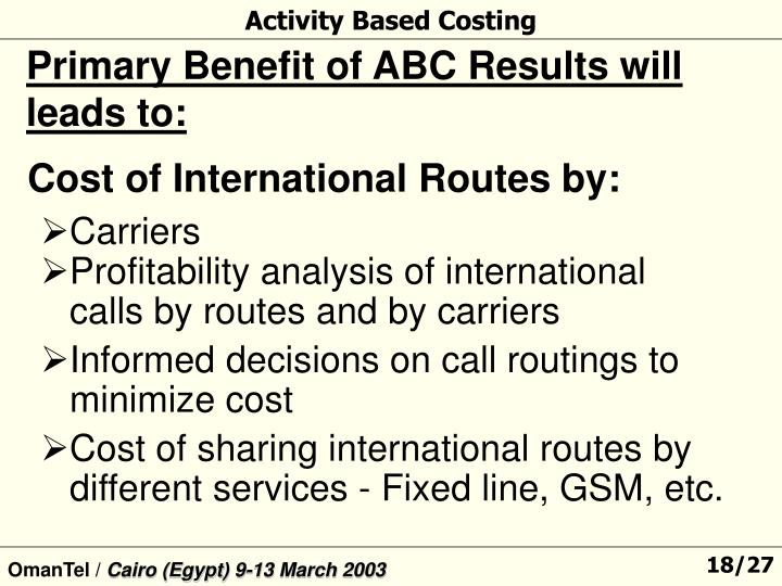 activity based costing abc hunter company Activity based costing (abc) used in logistics & supply chain management as cost optimization & it's benefits through abc for each activity.