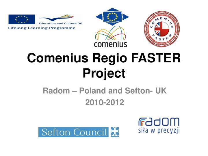 Comenius regio faster project