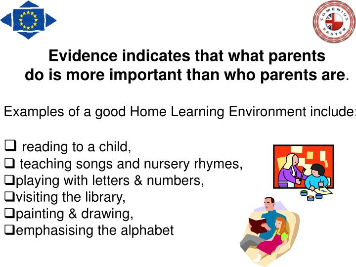 Evidence indicates that what parents