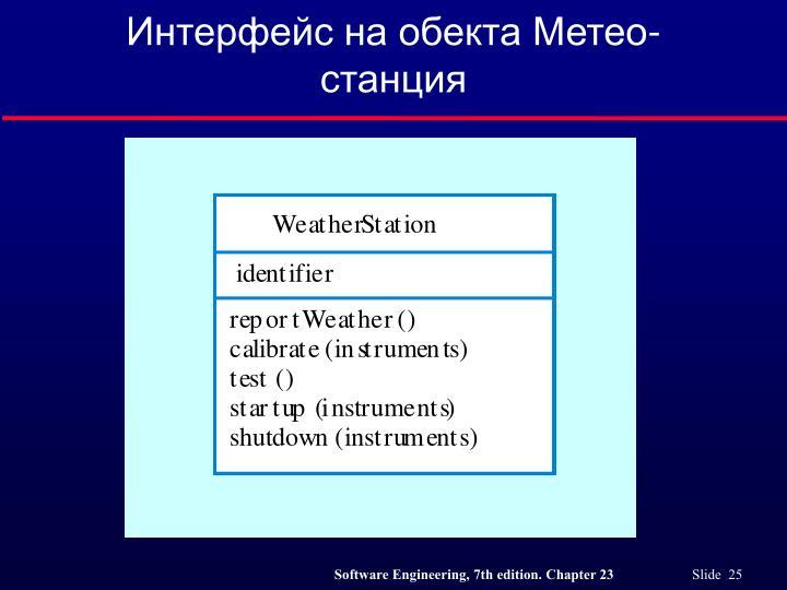 Интерфейс на обекта Метео-станция