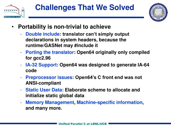 Challenges That We Solved