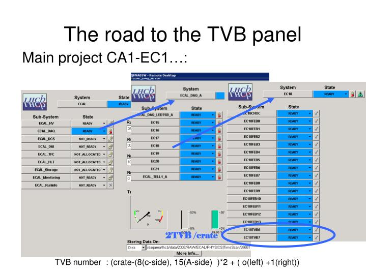 The road to the TVB panel