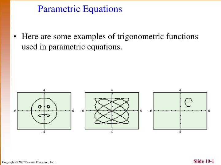 PPT - Parametric Equations PowerPoint Presentation - ID:4070060