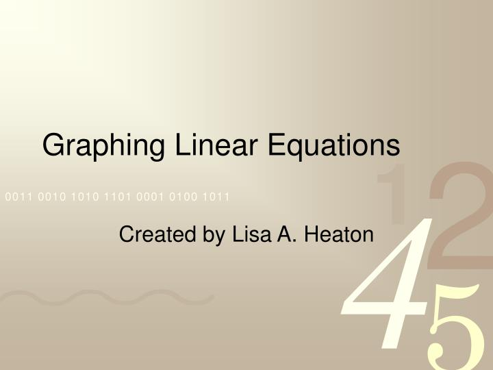 graphing linear equations n.