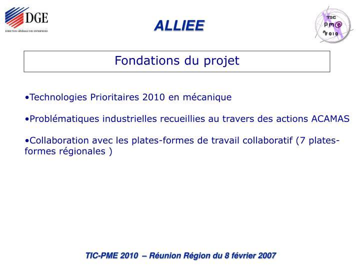 Fondations du projet