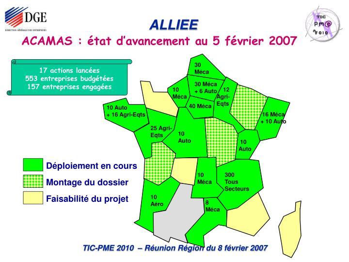 ACAMAS : état d'avancement au 5 février 2007