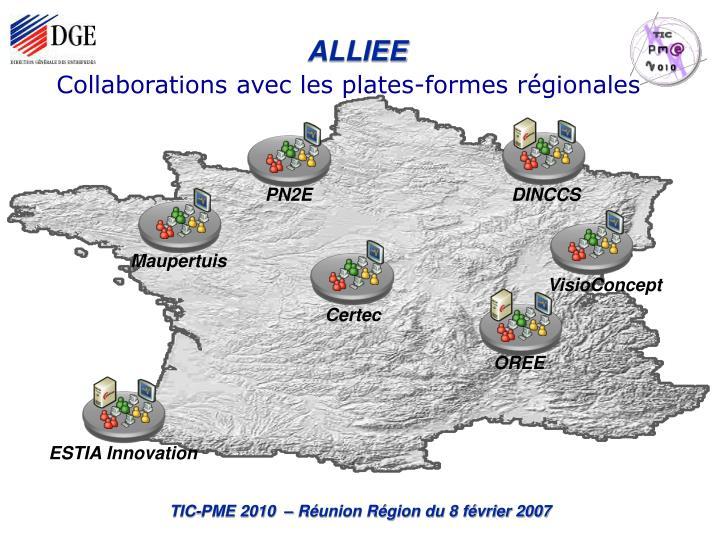 Collaborations avec les plates-formes régionales