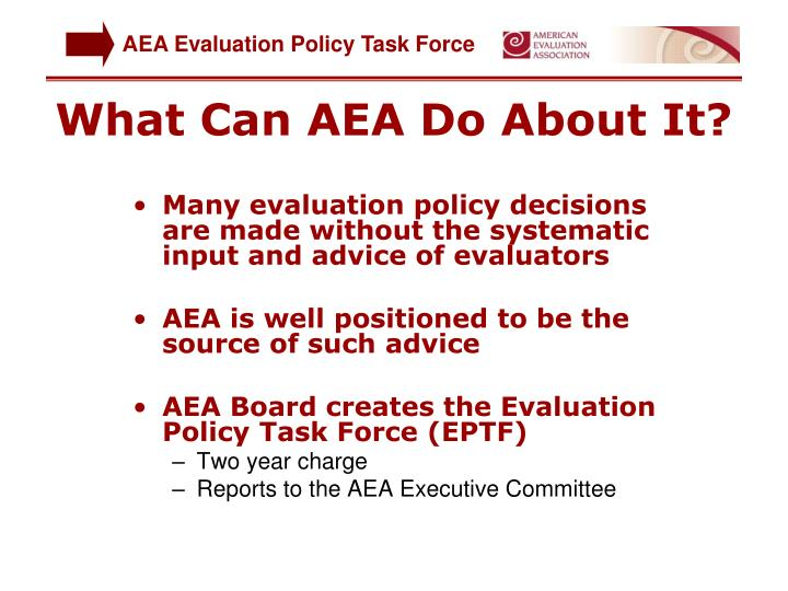What Can AEA Do About It?