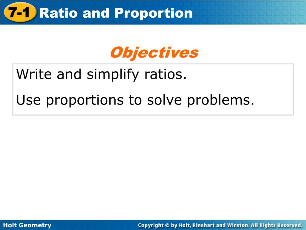 using ratios to solve problems