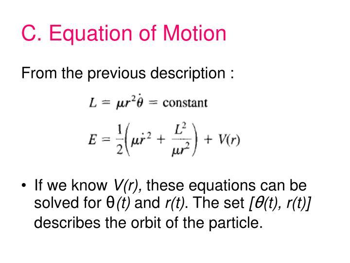 C. Equation of Motion