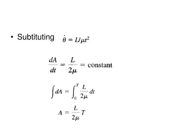 Subtituting
