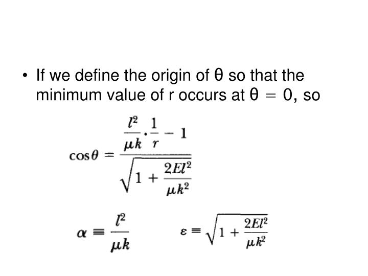 If we define the origin of