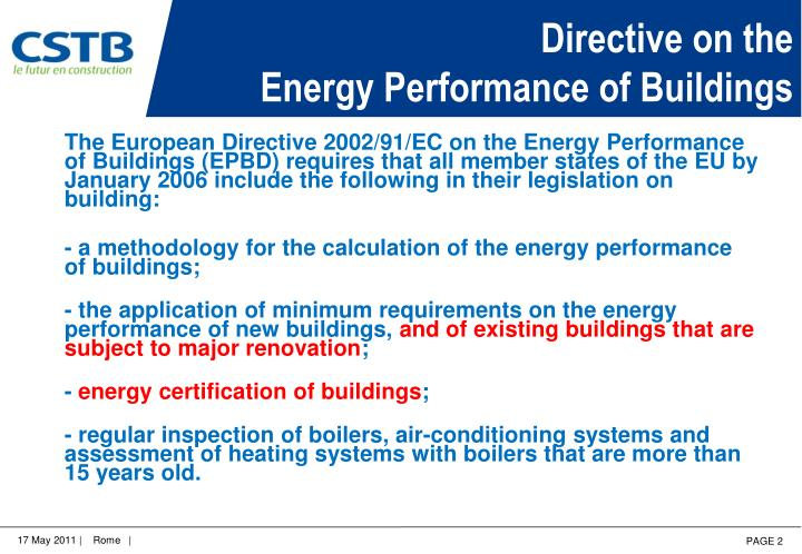 Directive on the energy performance of buildings