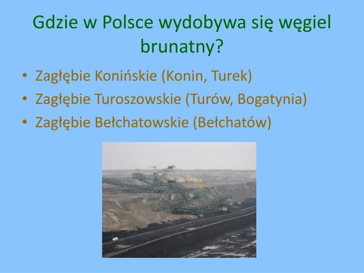 Gdzie w Polsce wydobywa się węgiel brunatny?