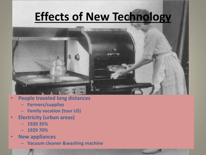 Effects of new technology