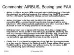 comments airbus boeing and faa