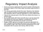 regulatory impact analysis