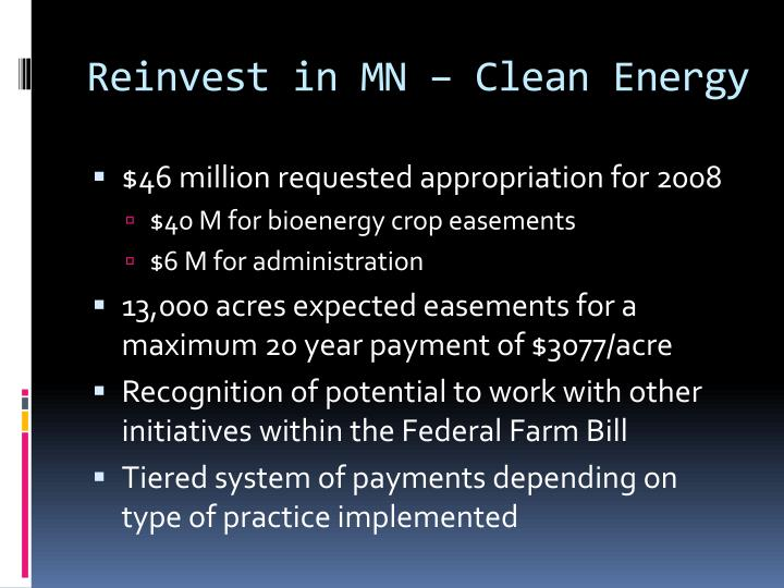 Reinvest in MN – Clean Energy