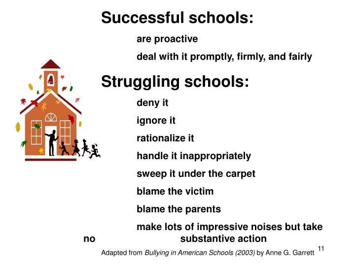 Successful schools: