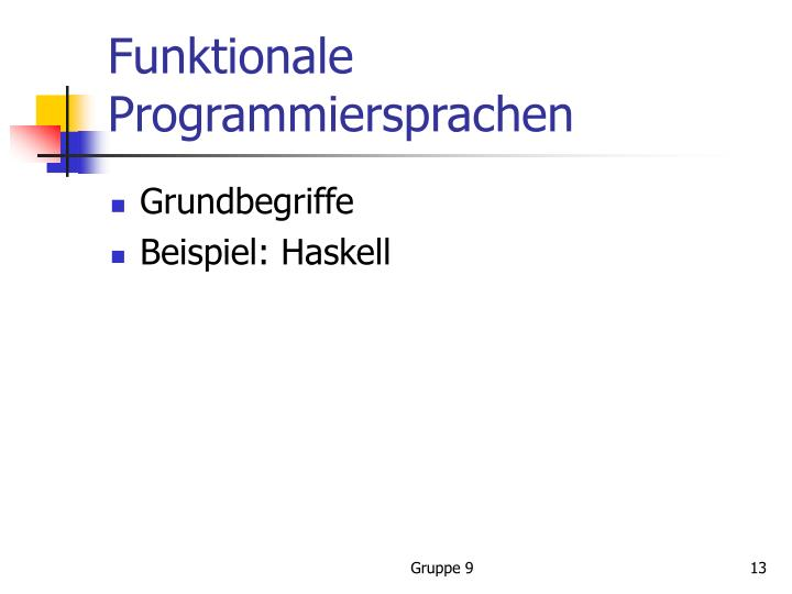 Funktionale Programmiersprachen