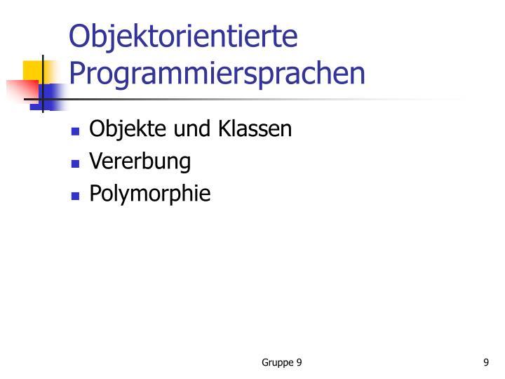 Objektorientierte Programmiersprachen