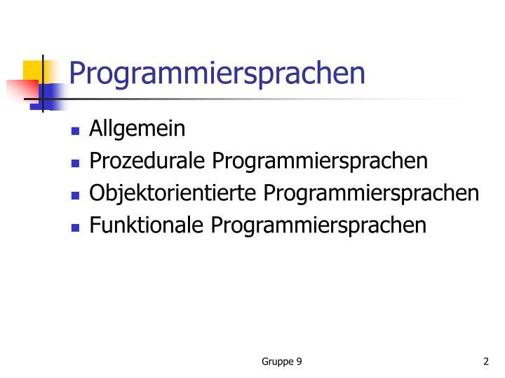Programmiersprachen1