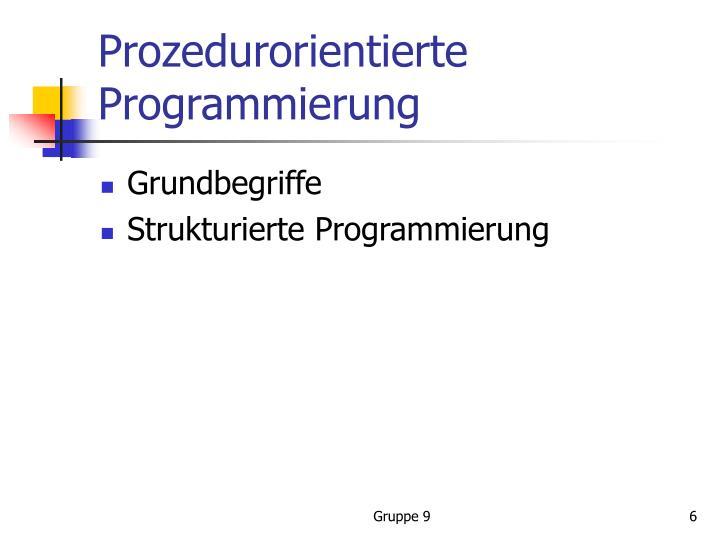 Prozedurorientierte Programmierung