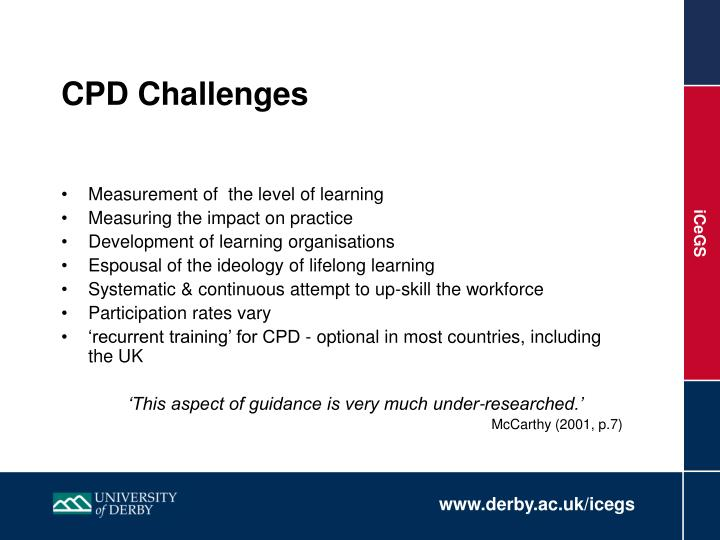CPD Challenges