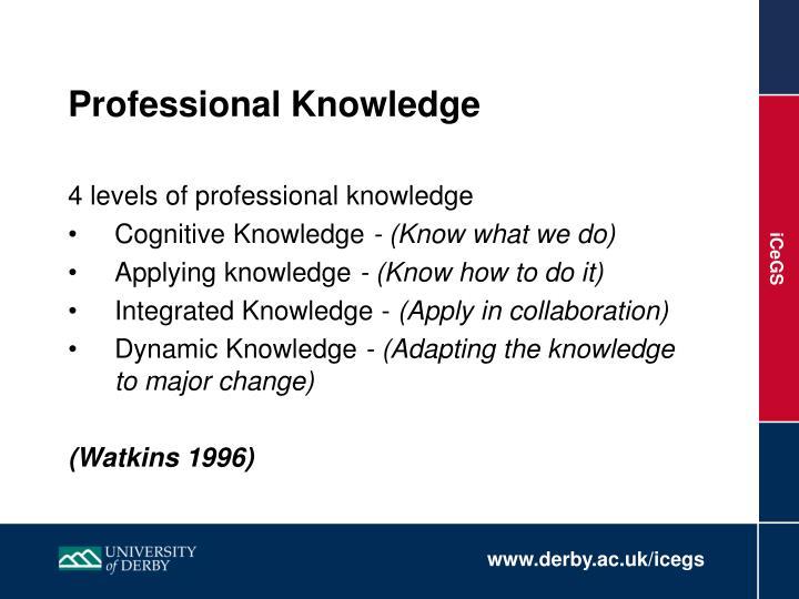 Professional Knowledge