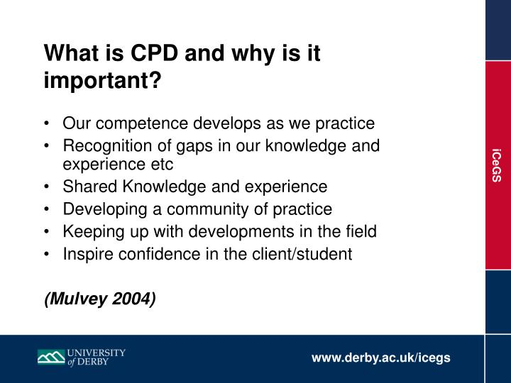What is CPD and why is it important?