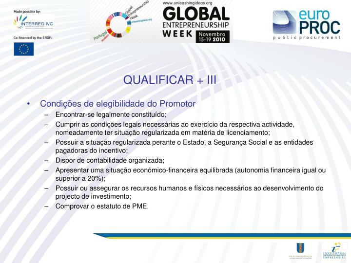 QUALIFICAR + III