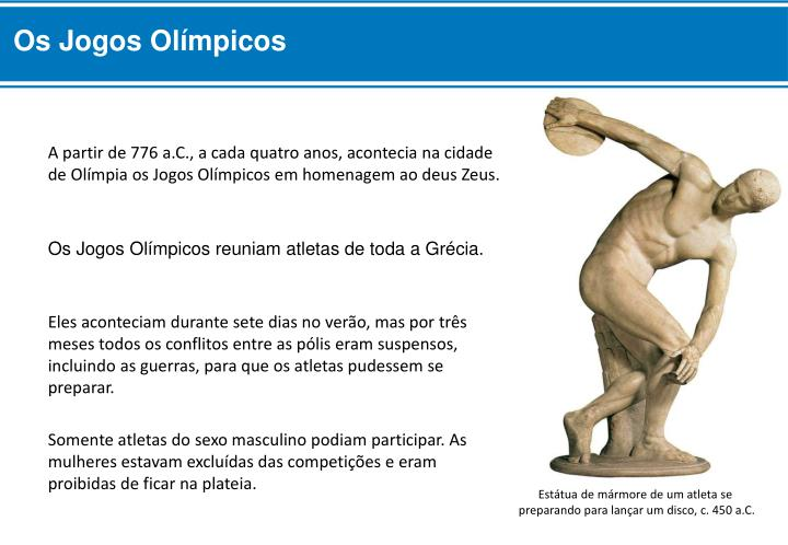 Os Jogos Olímpicos