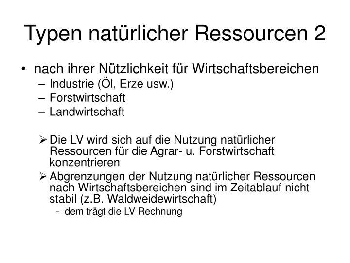 Typen natürlicher Ressourcen 2