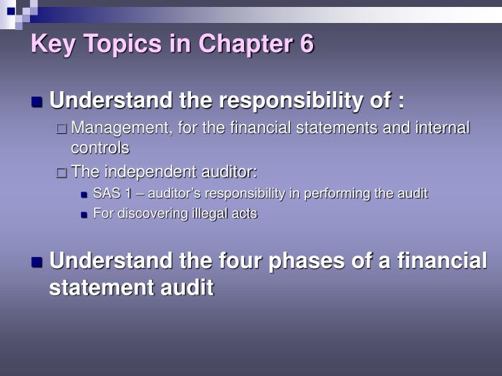 Key topics in chapter 6