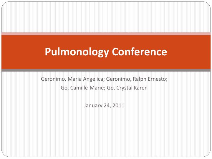 pulmonology conference n.