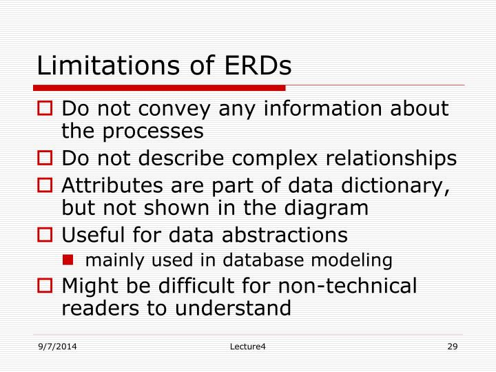 Limitations of ERDs