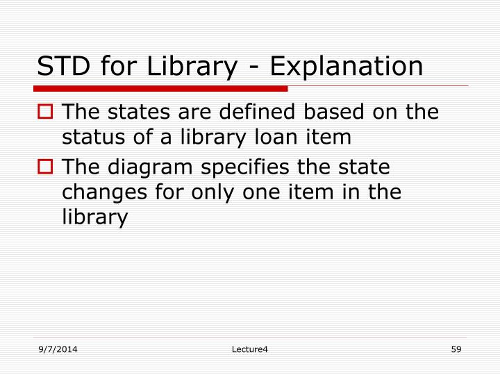 STD for Library - Explanation